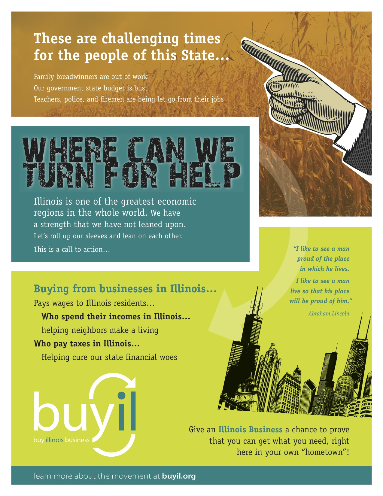 Buy Illinois Business Flyer